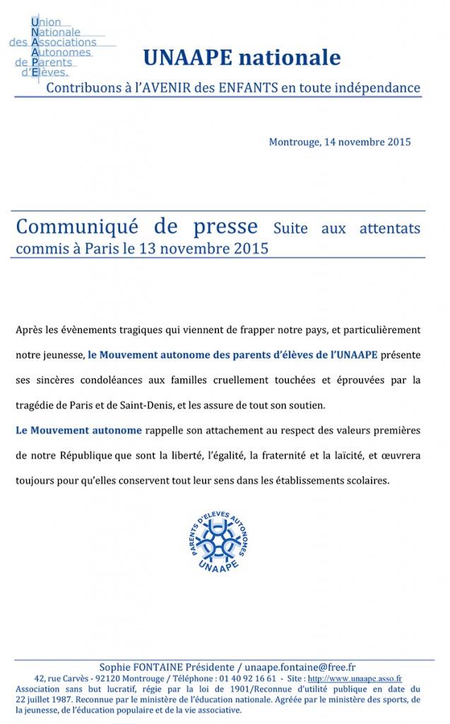 UNAAPE-CommuniquePresse